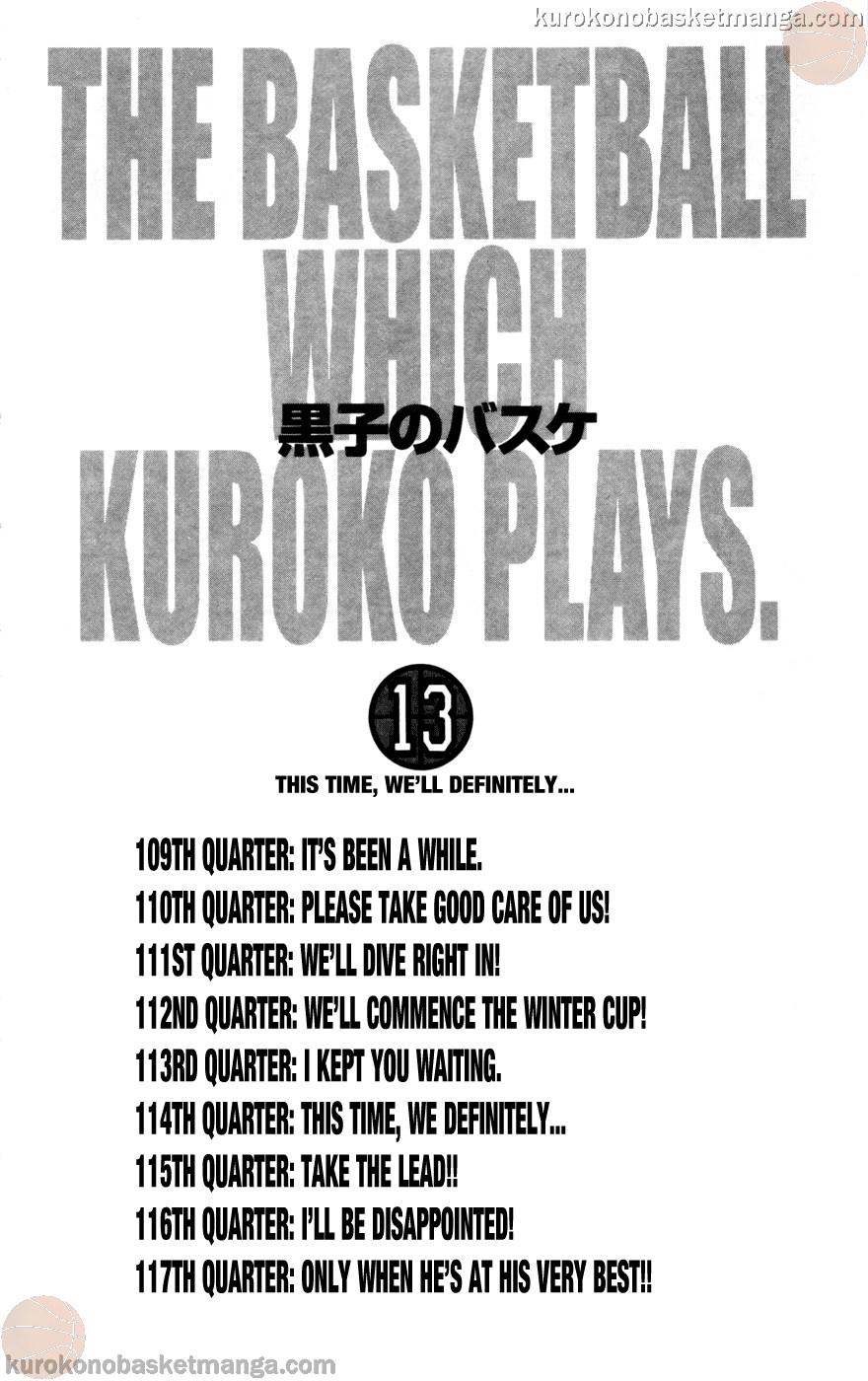 Kuroko no Basket Manga Chapter 109 - Image 04