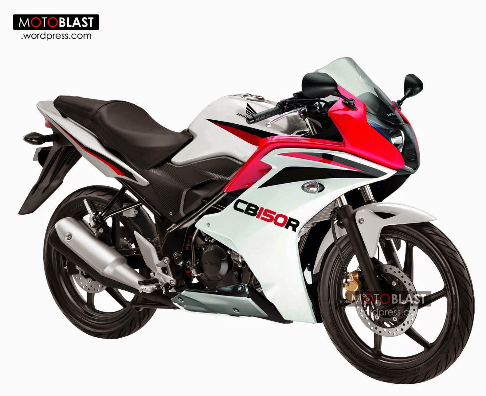 modifikasi cb150r warna merah