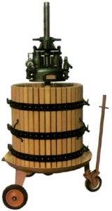 ΣΤΑΦΥΛΟΠΙΕΣΤΗΡΙΟ ΣΤΡΟΦΙΛΙΑ ΠΑΤΗΤΗΡΙ ΣΤΡΟΦΙΛΙΕΣ Ξύλινο πατητήρι κρασιού (πρέσα σύνθλιψης σταφυλιών & στεμφύλων, πιεστήριο στεμφύλων-σταφυλιών) BCM χειροκίνητο υδραυλικό με καρότσι