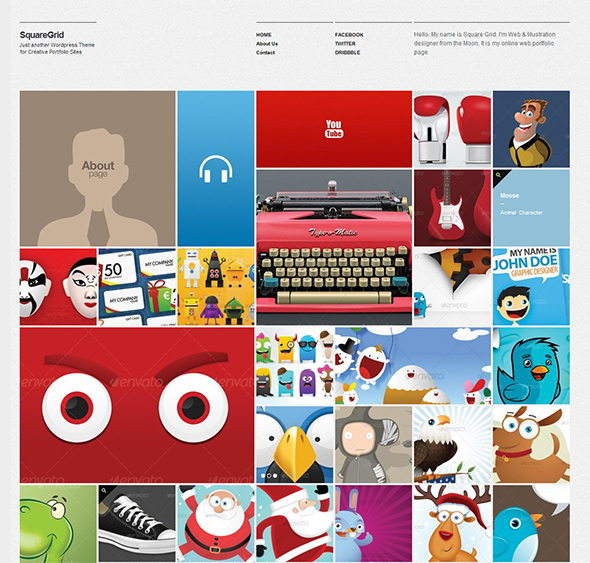 SquareGrid WordPress Theme Responsive Layout