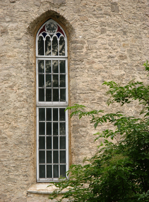 Haapsalu White Lady chapel window