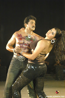 Sarath Kumar with a Dragon Tattoo on his Chest