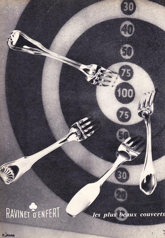 Publicité vintage : RAVINET D'ENFERT, les plus beaux couverts. - Pour vous Madame, pour vous Monsieur, des publicités, illustrations et rédactionnels choisis avec amour dans des publications des années 50, 60 et 70. Popcards Factory vous offre des divertissements de qualité. Vous pouvez également nous retrouver sur www.popcards.fr et www.filmfix.fr