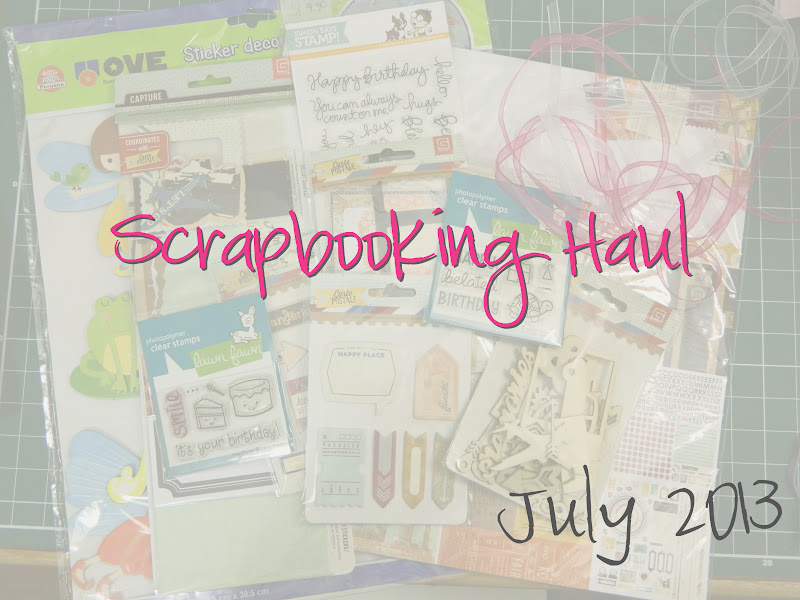 scrapbooking haul basic grey capture carte postale collection lawn fawn stamps simon says stamps ribbon