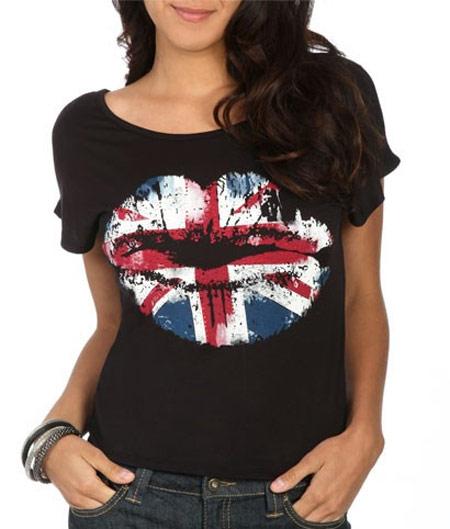 Inspiração Union Flag (bandeira do Reino Unido) - camiseta