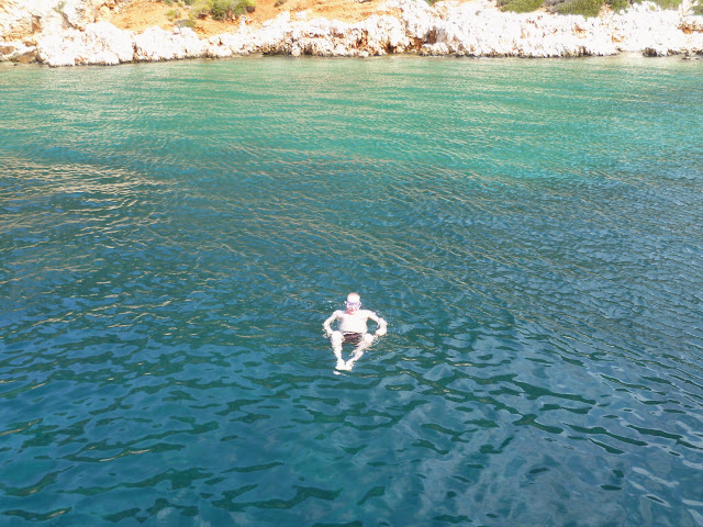 A pale swimmer off the coast of Turkey