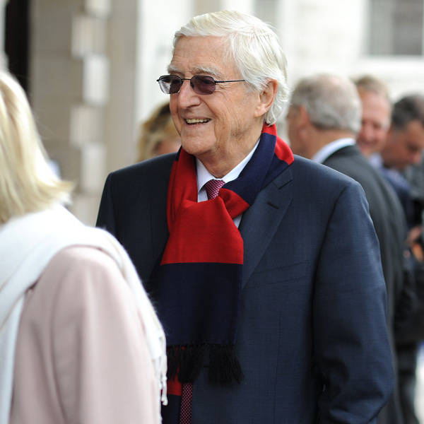 Michael Parkinson attends the memorial Service for Tony Greig, in London, on June 24, 2013.