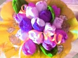 Tsvety iz konfet foto