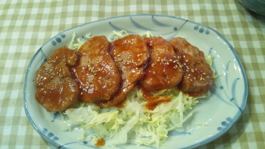 豚ヒレ肉のタレ絡め