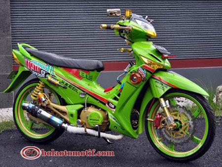 Modifikasi Extriem Motor Honda Supra X 125 J