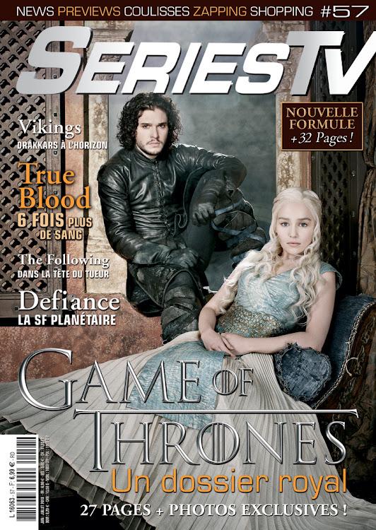 Jon Snow et Daenerys en couverture de SériesTV Magazine