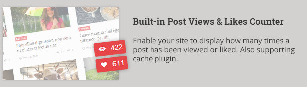 Built-in Post views and likes counter