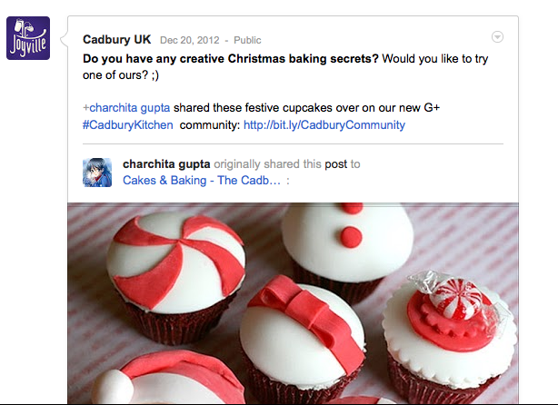 Cadbury UK Google Plus