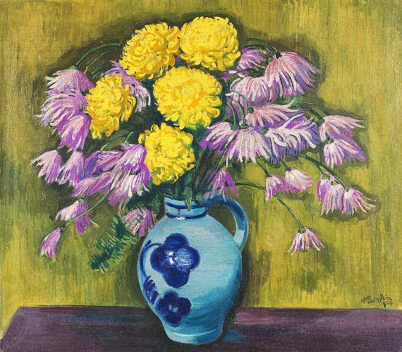Max Pechstein - Chrysanthemen
