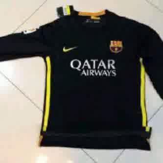 Jual Jersey Barcelona Hitam Lengan Panjang