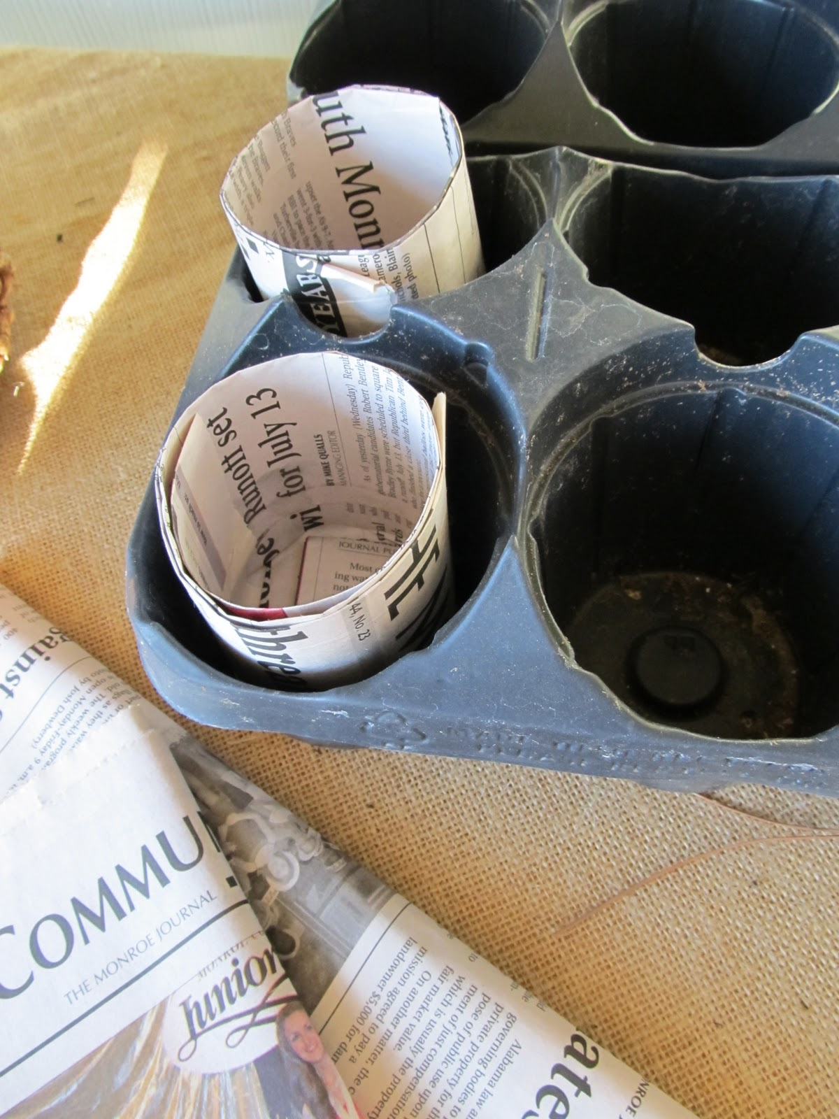 paper pot maker Just roll and press to create an environmentally friendly pot that naturally  decomposes in the ground eliminates the need for disposable plastic pots and  flats.
