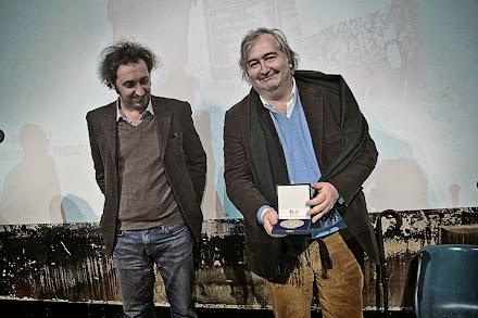 Consegna della Medaglia del Presidente della Repubblica concessa al Premio Franco Solinas a Umberto Contarello