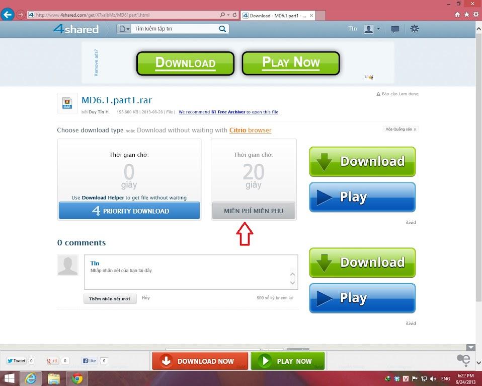 Hướng Dẫn Tải Dữ Liệu Tại 4Shared.Com 7