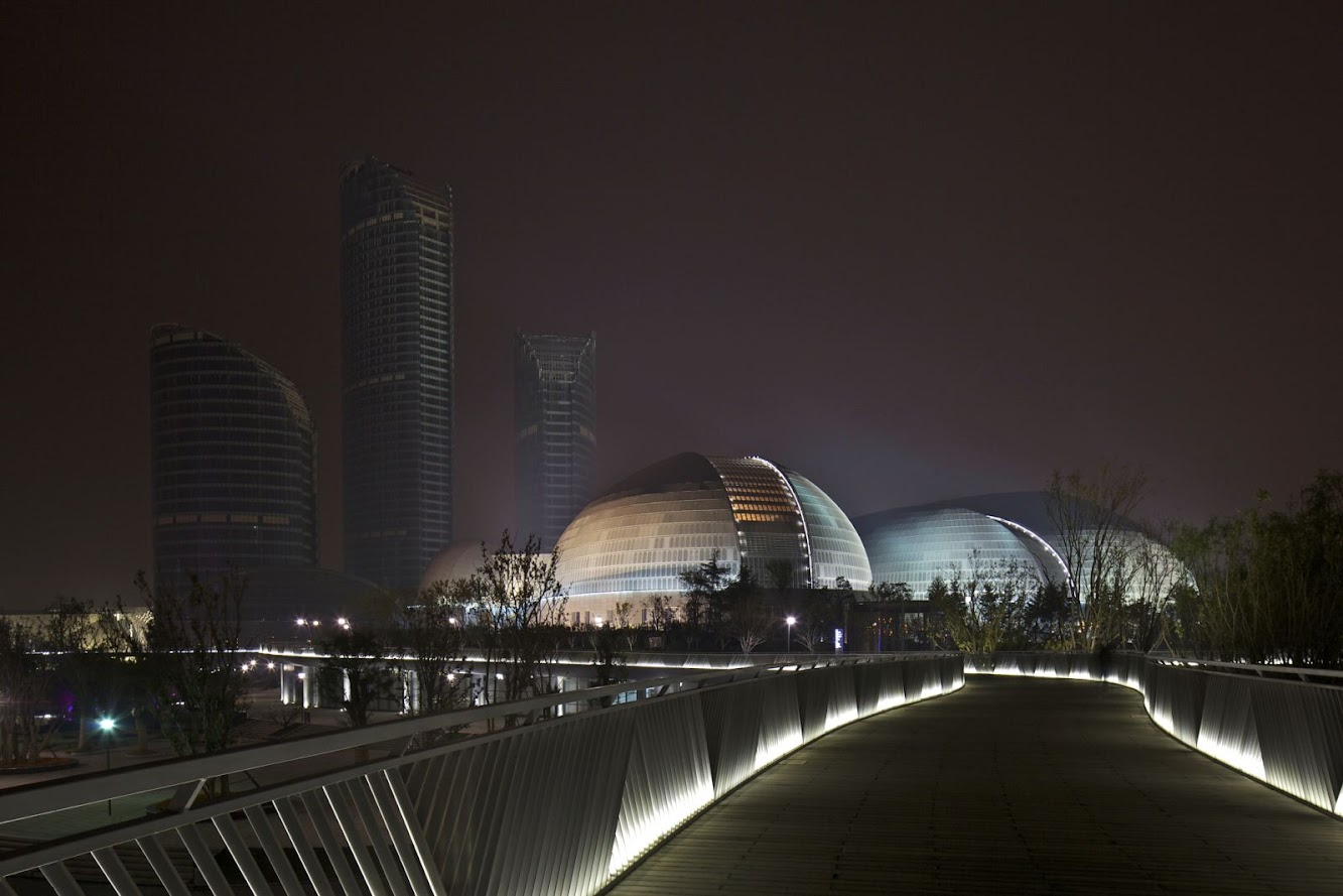 Jinan, Sciantung, Cina: Jinan Grand Theater by Paul Andreu Architecte
