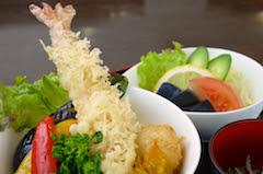 天竜天丼(サラダ、味噌汁、漬物付)
