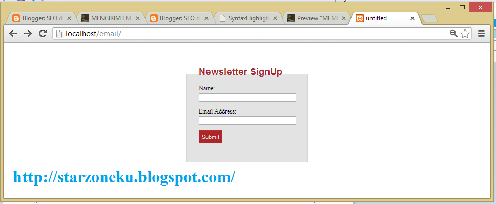 newsletter signup in codeigniter