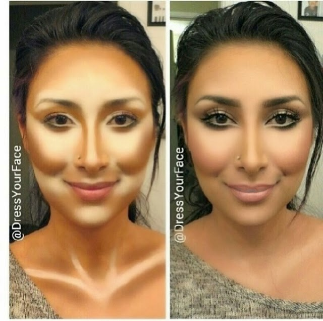 nyx contour tutorial. ini contoh contouring oleh @derssyourface a.k.a tamanna roashan seorang beauty guru yang cukup populer nyx contour tutorial