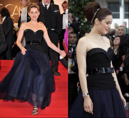 Marion Cotillard on the red carpet at the Cannes Film Festival 2012