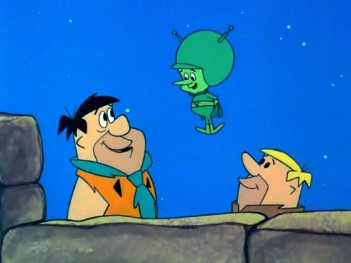 little green alien from flintstones characters names
