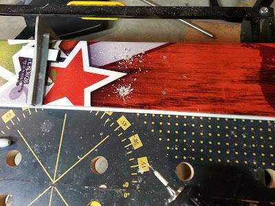 Toe piece pilot holes drilled.