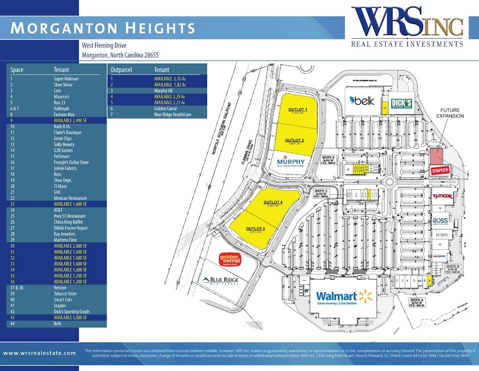 Morganton Heights site plan