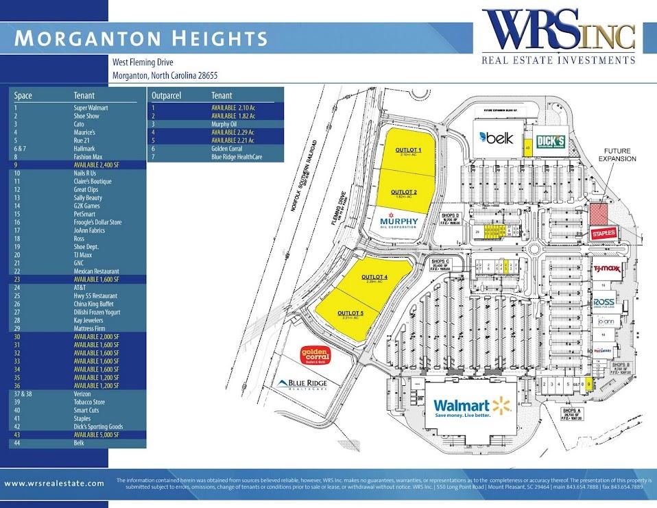 Morganton Heights site plan