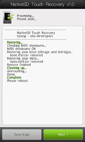 [TUTO] Utiliser le NativeSd Touch recovery 1.0 (en images) NativeSD_Touch_Recovery_2-6_Advanced_Restore