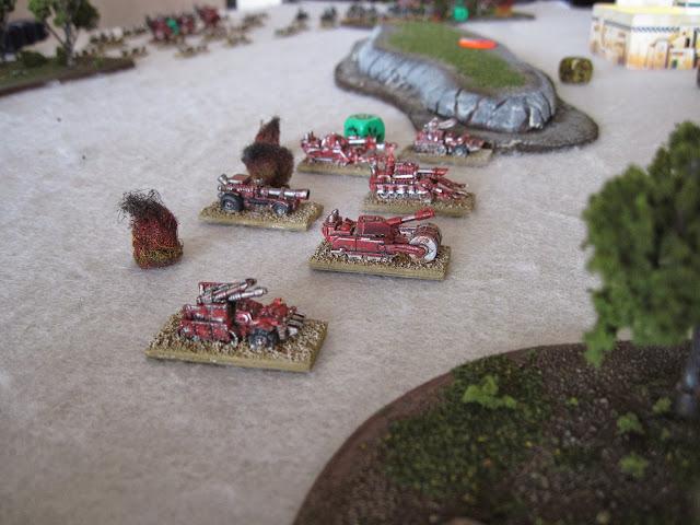 Eric's Blitz Brigade taking fire.