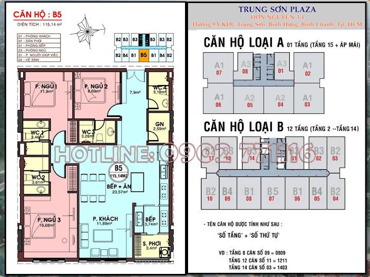 Kẹt tiền cần bán một số căn hộ Trung Sơn dưới giá gốc, thanh toán theo tiến độ!