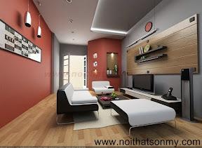 Mẫu thiết kế nội thất phòng khách 344