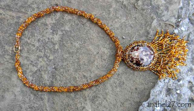 кулон с ракушкой Anabel бисерные украшения ручной работы