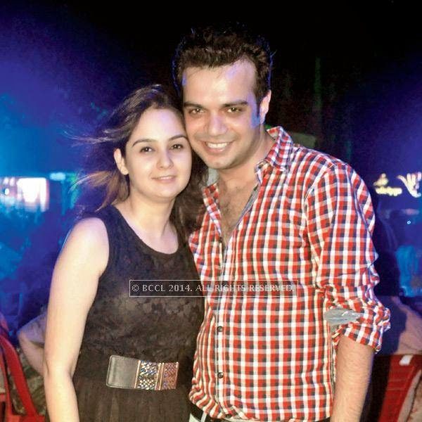 Raveena and Sumit during a rain dance party in Kanpur.