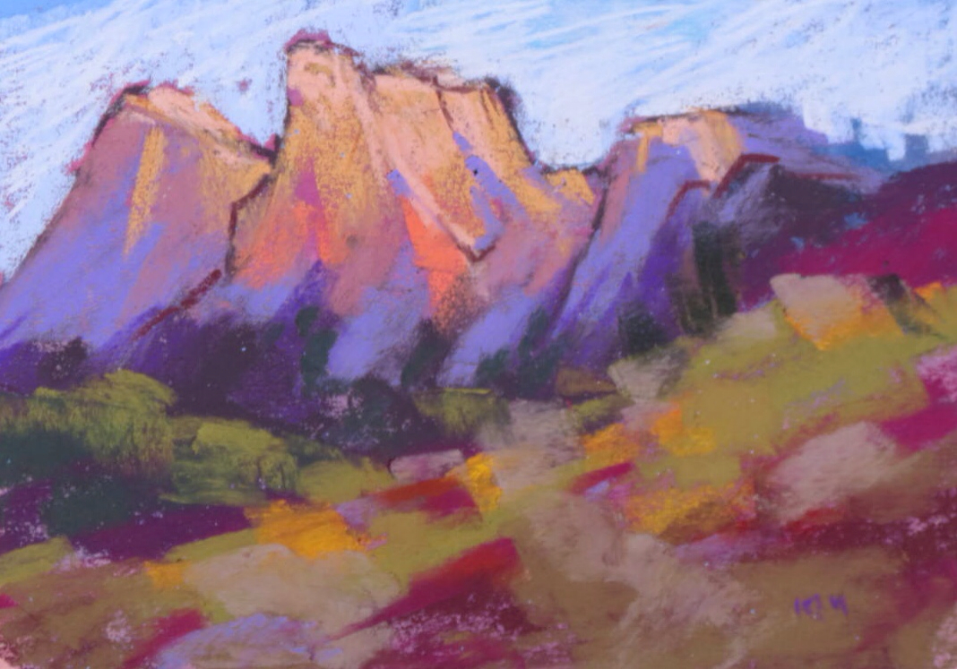 What To Paint painting my world: the majesty of zion.deciding what to paint