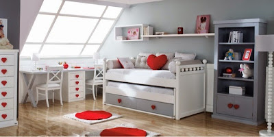 Dormitorio blanco lacado romantico