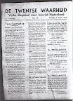De Twentse Waarheid  - Volks-Dagblad voor Bevrijd Nederland. Dinsdag 3 april 1945. Proclamatie: Burgers van Enschede.