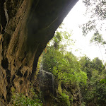 Gap Creek Falls from underneath the arch in the Watagans (323816)