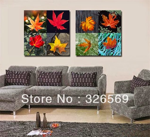 maple leaf europe wall art Canvas Prints Classical Oil
