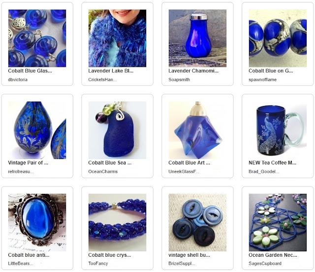 Handmade in Cobalt Blue
