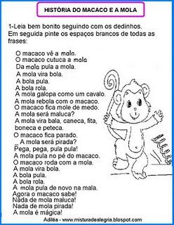LINGUAGEM E AFINS: O macaco e a mola>Estímulos alfabéticos e
