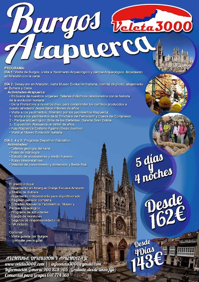 Viaje Educativo y Aventura Burgos Atapuerca