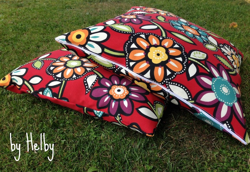 Outdoor zipper pillows