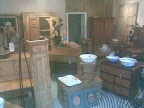 obvious pine furniture items in cavernous shop
