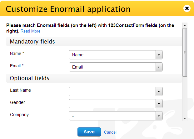 customize enormail application