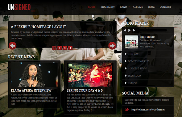 Unsigned WordPress Band Theme