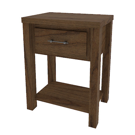 Matching Furniture Piece: Ashton Nightstand with Shelf, Peppercorn Cherry